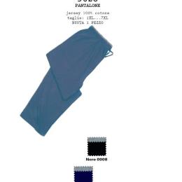 Pantalone uomo 5628  Pantalone lungo over size in jersey