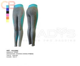 Leggings donna pd1090 Leggings sport con profili fluo