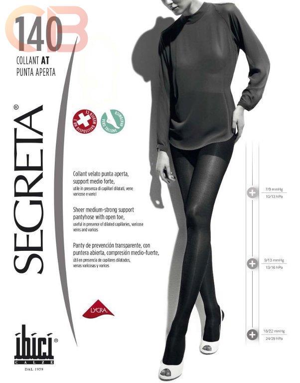 moda negozi popolari scopri le ultime tendenze Collant Riposante Donna IBICI - Collant SEGRETA 140 PUNTA ...